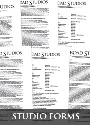 RAILROAD STUDIOS Downloadable Studio Forms